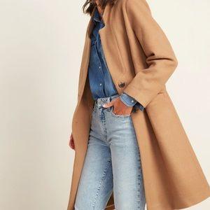 Oversized Soft-Brushed Overcoat for Women Acacia